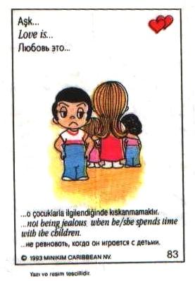 Love is... не ревновать, когда она занимается детьми